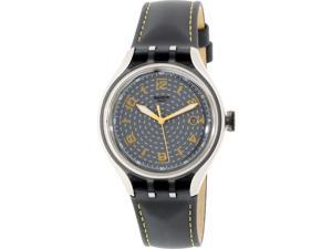 Swatch Men's Irony YES4007 Grey Leather Quartz Watch