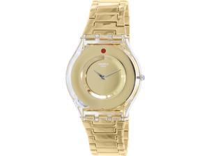 Swatch Women's Skin SFK399G Gold Stainless-Steel Quartz Watch