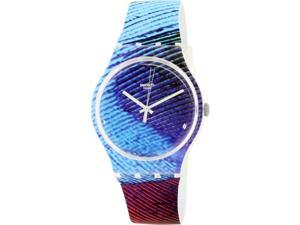 Swatch Men's Originals SUOK113 Multicolor Rubber Quartz Watch