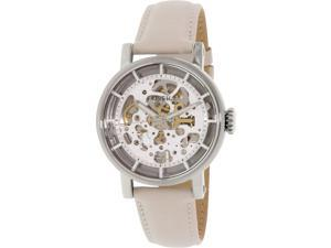 Fossil Women's Boyfriend ME3069 Beige Leather Automatic Watch