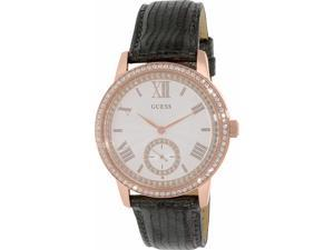 Guess Women's U0642L3 Black Leather Quartz Watch