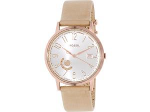 Fossil Women's ES3751 Beige Leather Quartz Watch