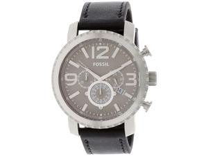 Fossil BQ1175 Men's Black Leather Quartz Watch
