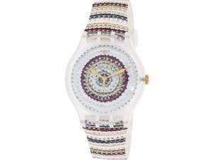 Swatch Women's Originals SUOK114 Multi Silicone Swiss Quartz Watch