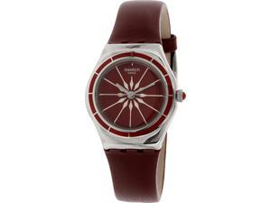 Swatch Women's Irony YSS292 Red Leather Swiss Quartz Watch