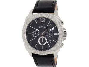 Fossil BQ1731 Men's Privateer Black Leather Quartz Watch