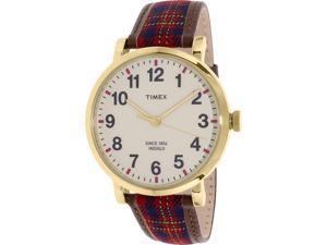 Timex Mens Heritage TW2P69600 Multi Brown Leather Quartz Watch