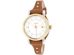 Fossil Women's Original Boyfriend ES3949 Brown Leather Quartz Watch