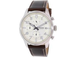 Fossil Men's FS5138 Brown Leather Quartz Watch