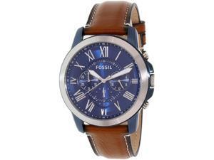 Fossil Men's Grant FS5151 Brown Leather Quartz Watch