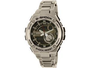 Casio Men's G-Shock GST210D-1A Silver Stainless-Steel Quartz Watch