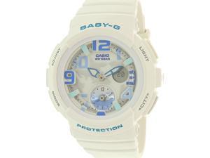 Casio Women's Baby-G BGA190-7B White Plastic Quartz Watch