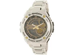 Casio Men's G-Shock GST210D-9A Silver Stainless-Steel Quartz Watch