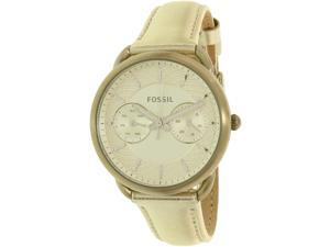 Fossil Women's Tailor ES3912 Silver Leather Quartz Watch