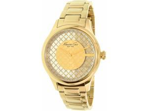 Kenneth Cole Women's New York 10026010 Gold Stainless-Steel Quartz Watch