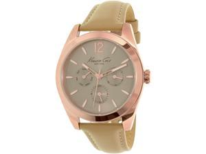 Kenneth Cole Women's New York 10027821 Rose Gold Leather Quartz Watch