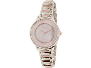 Citizen Women's EM0384-56D Silver Stainless-Steel Eco-Drive Watch