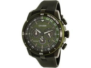 Citizen Men's CA4156-01W Green Rubber Eco-Drive Watch