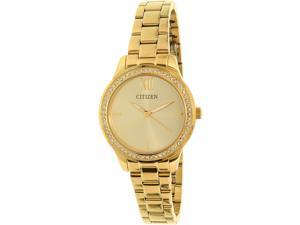 Citizen Women's EL3082-55P Gold Stainless-Steel Quartz Watch