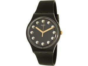 Swatch Women's New Gent SUOM104 Black Silicone Swiss Quartz Watch