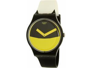 Swatch Men's Originals SUOB130 Black Silicone Swiss Quartz Watch