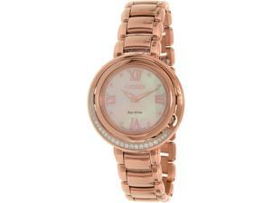 Citizen Women's Eco-Drive EX1122-58D Gold Stainless-Steel Eco-Drive Watch