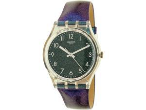 Swatch Women's Gent GE245 Multicolor Leather Swiss Quartz Watch