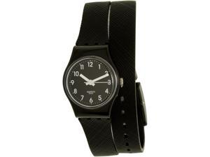 Swatch Women's Lady LB170D Black Silicone Swiss Quartz Watch