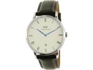 Daniel Wellington Men's Dapper Sheffield 1121DW Silver Leather Quartz Watch