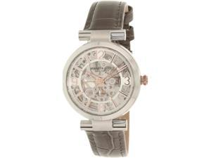 Kenneth Cole Women's New York 10027309 Silver Leather Automatic Watch