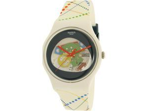 Swatch Men's Originals SUOW128 White Silicone Quartz Watch