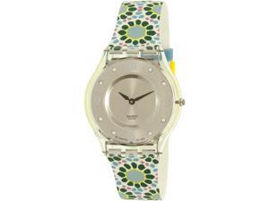 Swatch Women's Classic SFK327 Green Silicone Quartz Watch