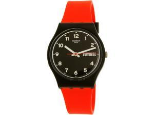 Swatch Men's Gent GB754 Red Silicone Quartz Watch