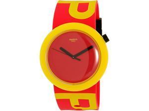 Swatch Men's Originals PNJ100 Red Silicone Quartz Watch