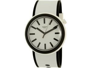Swatch Men's Originals PNW100 White Silicone Quartz Watch