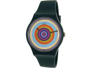 Swatch Men's New Gent SUON117 Blue Silicone Quartz Watch