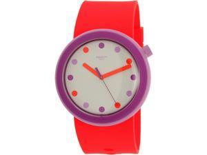 Swatch Men's Originals PNP100 Pink Silicone Swiss Quartz Watch