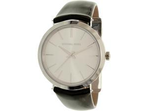 Michael Kors Women's Kempton MK2483 Silver Leather Quartz Watch