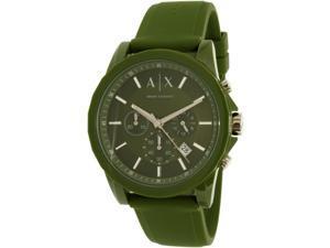 Armani Exchange Men's Outerbanks AX1329 Green Silicone Quartz Watch