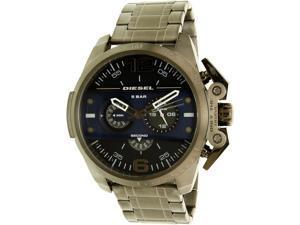 Diesel Mens Ironside DZ4398 Gunmetal Stainless-Steel Quartz Watch
