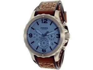 Fossil Men's Nate JR1515 Brown Leather Quartz Watch