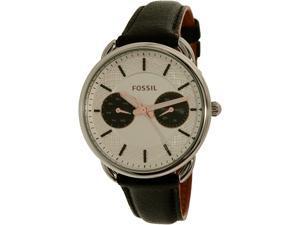 Fossil Women's Tailor ES3953 Black Leather Quartz Watch