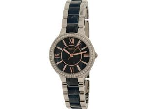 Fossil Women's Virginia ES4009 Silver Stainless-Steel Quartz Watch