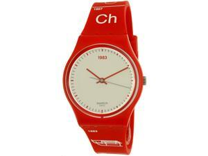 Swatch Men's Schwiizitude GR168 Red Rubber Swiss Quartz Watch