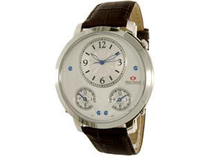 Precimax Men's Roosevelt PX16001 Brown Leather Quartz Watch