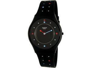Swatch Women's Voice Of Freedom SFB146 Black Rubber Swiss Quartz Watch