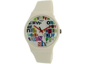 Swatch Men's Voice Of Freedom SUOW132 White Rubber Swiss Quartz Watch
