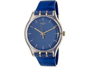 Swatch Men's Magies D'Hiver SUOK126 Blue Rubber Swiss Quartz Watch
