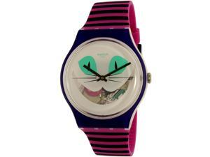 Swatch Men's New Gent SUOW125 Purple Silicone Swiss Quartz Watch