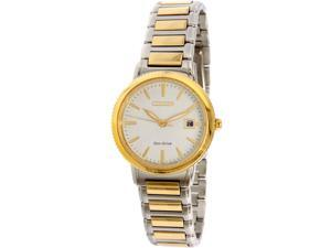 Citizen Women's Eco-Drive Silhouette Sport EW2374-56A Gold Stainless-Steel Eco-Drive Watch